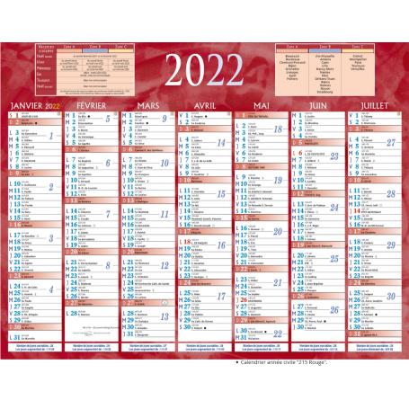 Bouchut Calendrier 21x26,5 cm annee 2022