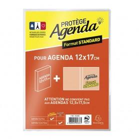 Protège-agenda standard - 12 x 17 cm - Exacompta - Translucide