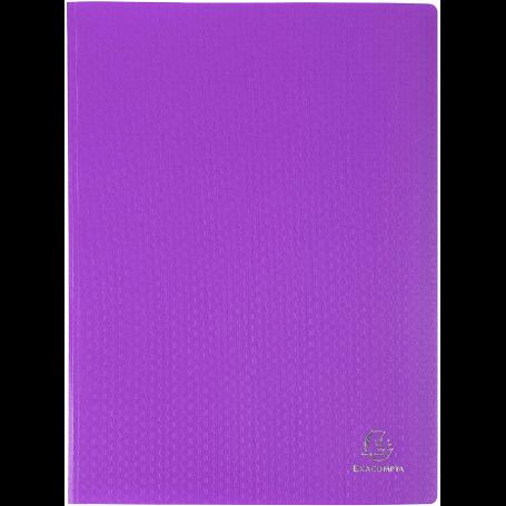 1 Porte vues Opak 20 pochettes 40 vues violet exacompta