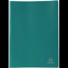 EXACOMPTA Protège-documents, A4, 100 pochettes, vert foncé