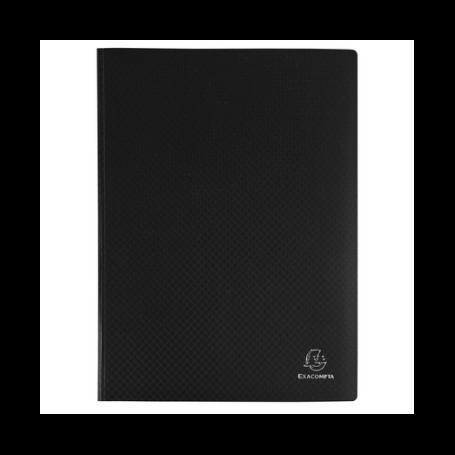 EXACOMPTA Protège-documents, A4, PP, 50 pochettes, noir 100 vues