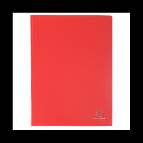 EXACOMPTA Protège-documents, A4, PP, 60 pochettes, rouge 120 vues