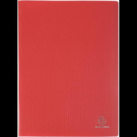 EXACOMPTA Protège-documents, A4, PP, 20 pochettes, rouge 40 vues