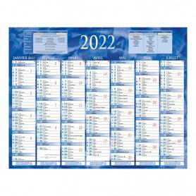 Bouchut Grandrémy Calendrier Semestriel 2022 21 x 26,5 cm bleu
