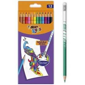 BIC Kids Evolution Illusion 12 crayons de couleur effaçables