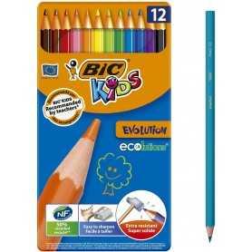 BIC évolution écolutions Crayons de Couleur Boîte de 12