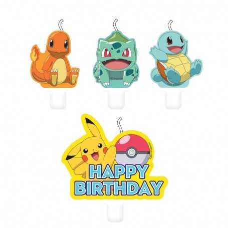 Lot de 4 bougies Pokemon
