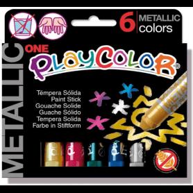 6 sticks de gouache solide métallisée