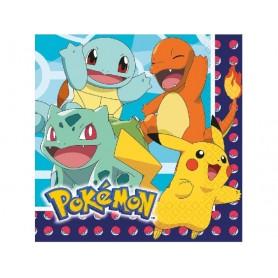 Serviettes - Pokemon - lot de 16