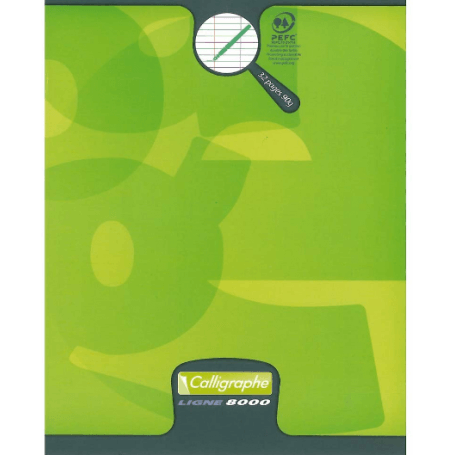Cahier 32 pages grands carreaux 3mm 17x22