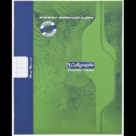 Cahier de brouillon 17 x 22 56 g Séyès - Papier 100 % recyclé - 48 pages