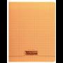 8000 POLYPRO, Cahier piqué 17x22cm 96p grands carreaux (séyès)