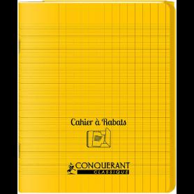 Conquérant Cahier à rabats 17x22 48 pages Séyès Polypro
