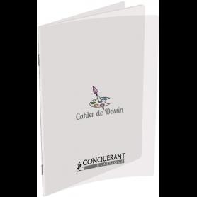 CONQUERANT Classique - Cahier de dessin polypro 24 x 32 cm 48 pages uni transparent