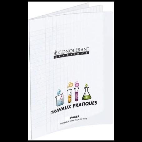 CONQUERANT CLASSIQUE Cahier travaux pratiques 17x22 64 pages