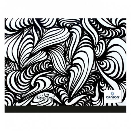 Carton à dessin CANSON Studio 26x33cm Edition Artiste noir/blanc