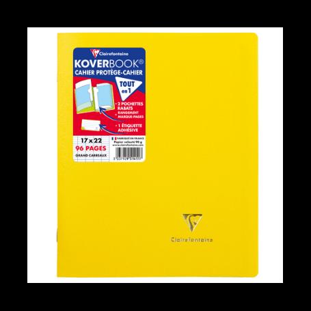 CLAIREFONTAINE Cahier Koverbook 17x22 Grands Carreaux (Séyès) 96p opaque