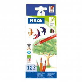 Pochette 12 crayons de couleur triangulaires
