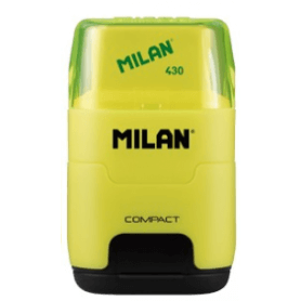 Milan taille-crayons+gomme COMPACT Fluo