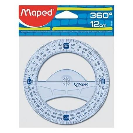 Rapporteur circulaire 360° diam. 12 cm Géometric