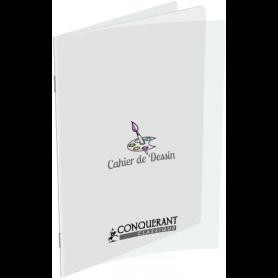 CONQUERANT Cahier de dessin polypro 17 x 22 32 pages uni