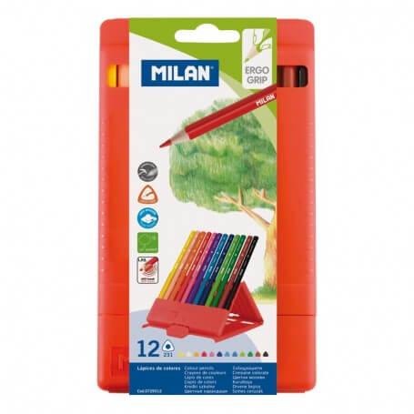 Milan-Flexibox 12 crayons de couleur triangulaires