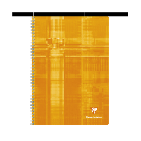 CLAIREFONTAINE Cahier reliure spirale 21 x 29,7 100 pages 5x5