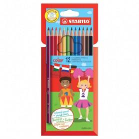 STABILO-Pochette de 12 crayons de couleur - STABILO