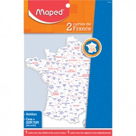 Maped-2 cartes de France - Administrative et reliefs