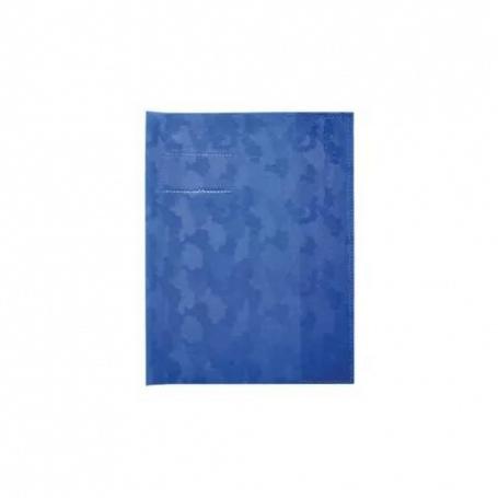 Elba Protège-cahiers 17x22 cm bleu grain hélice