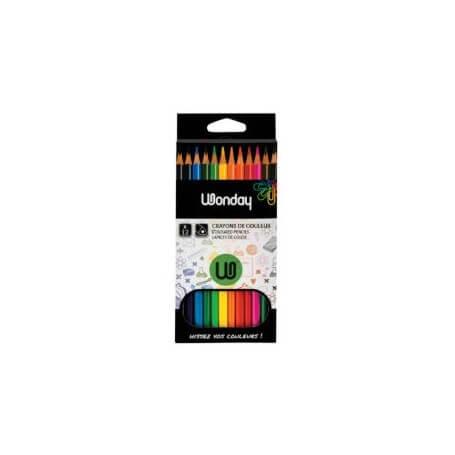 Boîte de 12 crayons de couleurs triangulaires