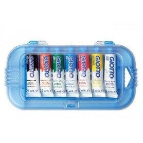 Boite 7 tubes gouache 10 ml couleurs assorties Giotto