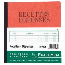 Exacompta-Piqûre - Recettes-dépenses - 19x21 cm