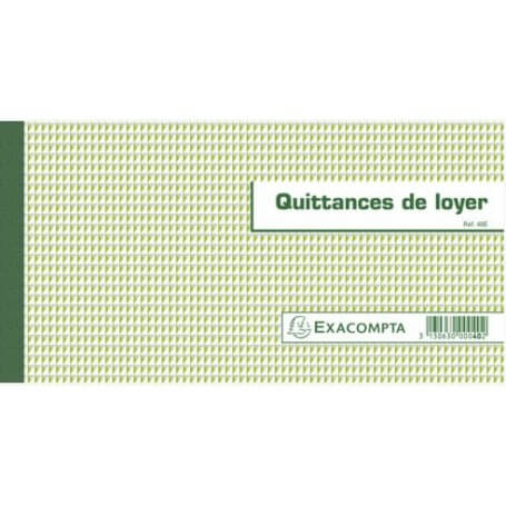 """CARNET À SOUCHE """"""""QUITTANCES DE LOYER"""""""" 50 FEUILLETS - 13X18,5 CM"""