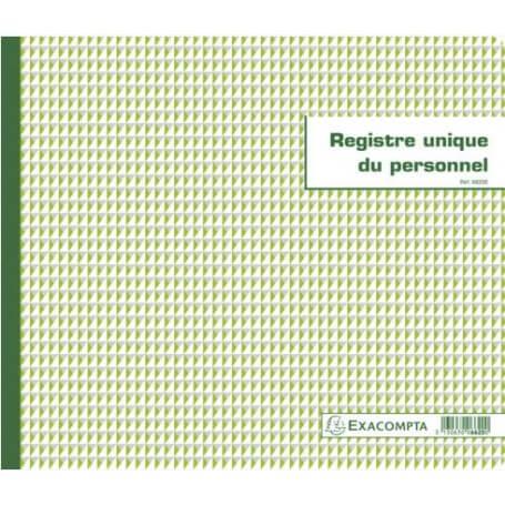 REGISTRE UNIQUE DU PERSONNEL (SALARIÉS ET STAGIAIRES) - 56 PAGES
