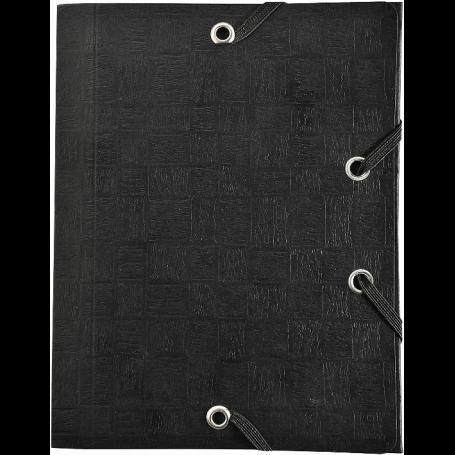 Exacompta Chemise cartonnée 3 rabats élastique A6 (12x16)