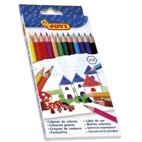 Jovi Etui Carton de 12 Crayons Couleur