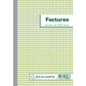 Manifold Factures 21x14,8cm 50 feuillets dupli autocopiants